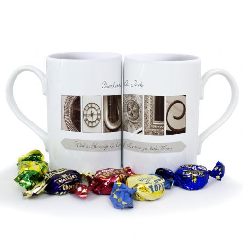 Personalised Affection Art Couple Mug Set